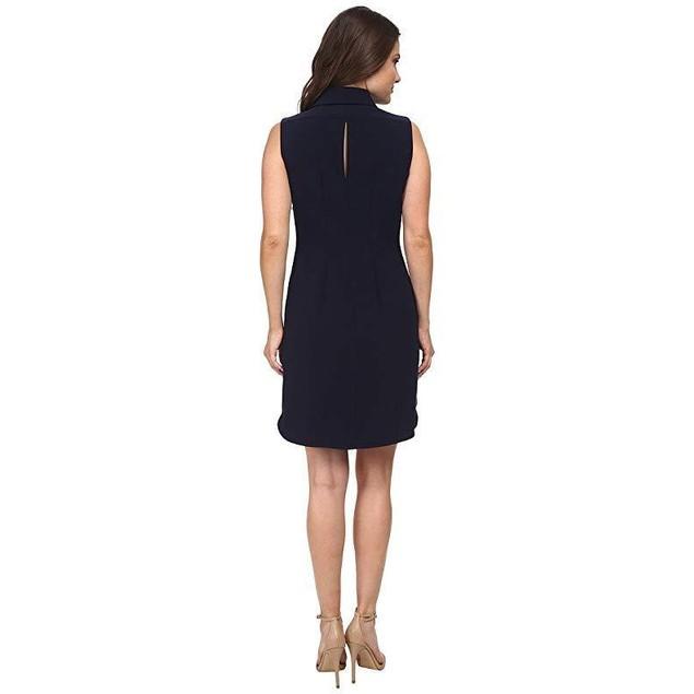 Tahari by ASL Petite Women's Petite Kristin Dress Navy Dress  Sz 14P