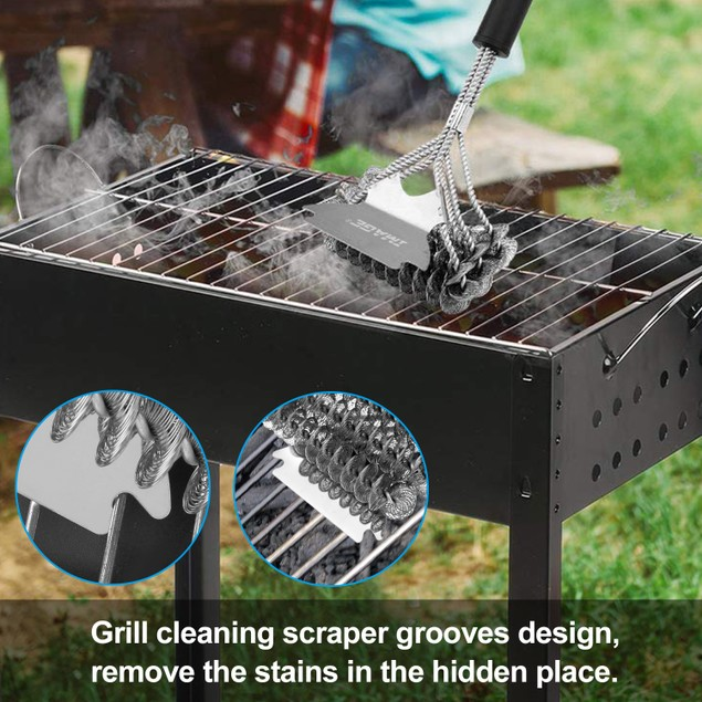 """Grill Cleaning Brush, Image 17 """"BBQ Grill Brush and Scraper Unique 2 in 1"""