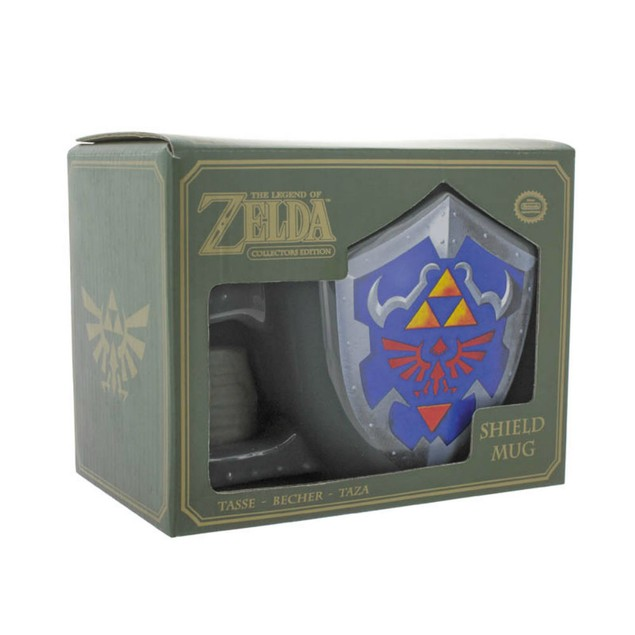 Link Shield Mug Legend of Zelda Link Coffee Tri-foce Ocarina of Time Game
