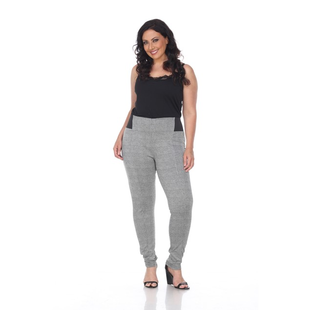 Jacquard Slim Pants - 2 Prints - Extended Sizes