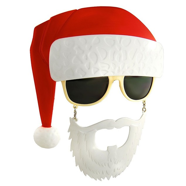 Santa Sunstache Sunglasses