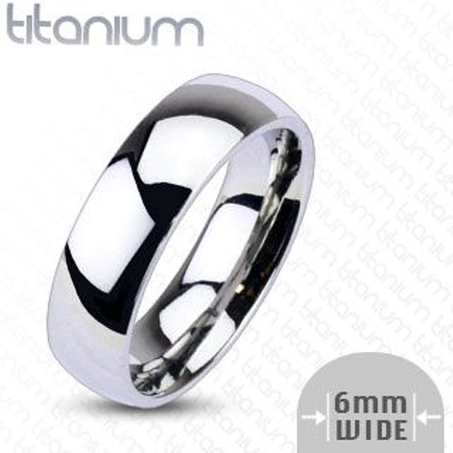 Plain Titanium Ring Unisex Wedding Bands