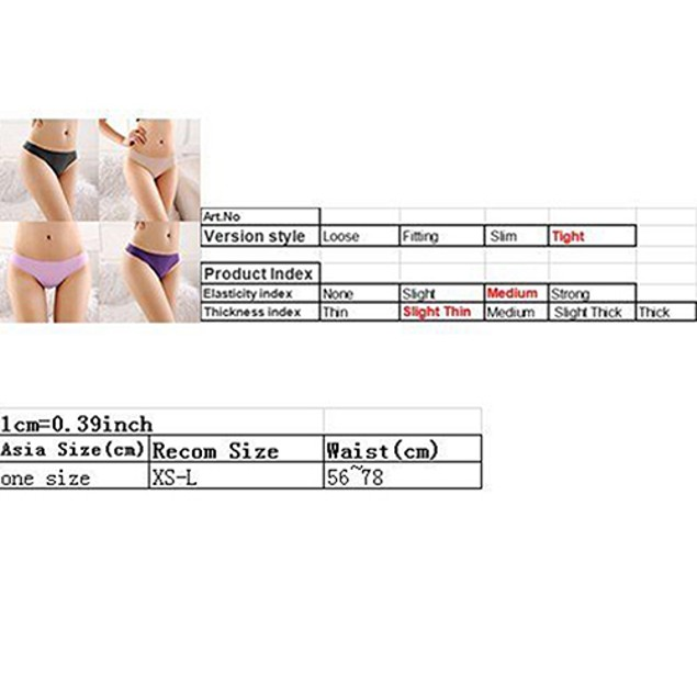 Women Sexy Seamless Low Rise G-String Briefs