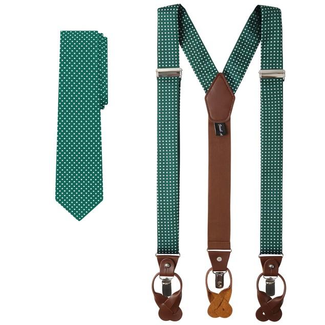 Jacob Alexander Matching Polka Dot Suspenders and Tie