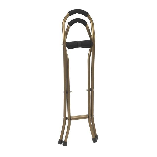 Drive Medical Lightweight Folding Cane w/ Sling Style Seat, Bronze/Black,
