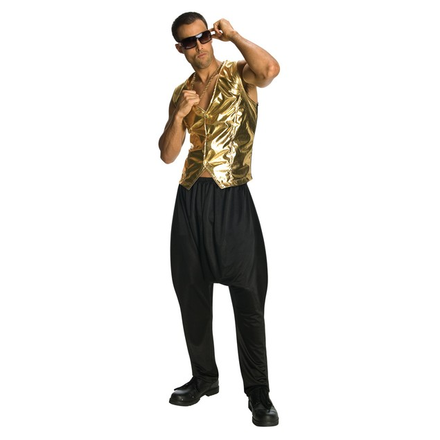 Black MC Hammer Parachute Pants
