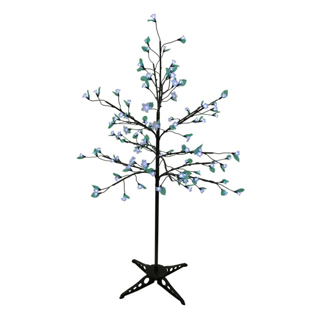 Indoor/Outdoor 90 Led White Cherry Blossom Tree Artificial Plants