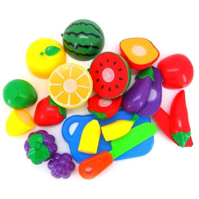 1 Set Cutting Fruit Vegetable Pretend Play Children Kid Educational Toy