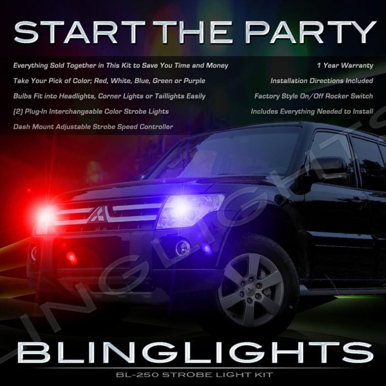 New Mitsubishi Nativa Strobe Police Light Kit For Headlamps Adjustable Headlights Head