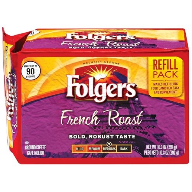 Folgers French Roast Ground Coffee Refill 2 Pack
