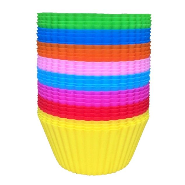 Silicone Muffin/Cupcake Baking Liners - 6,12, or 24 pcs