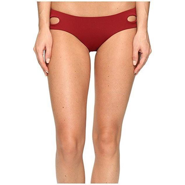 Becca by Rebecca Virtue Women's Tab Side Hipster Bikini Bottom Henna S