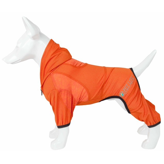 Pet Life Active 'Pawsterity' Performance Two-Toned Full Bodied Hoodie