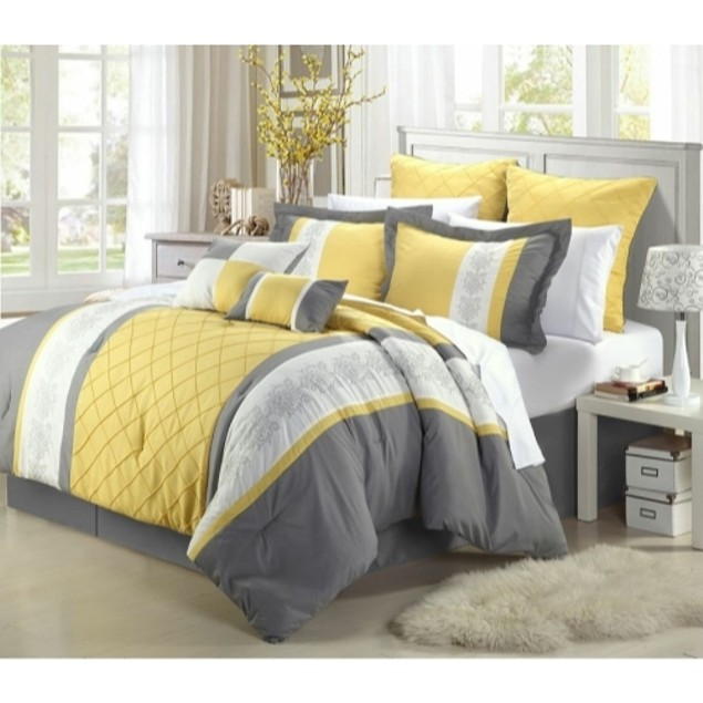 Chic Home Boltonia 8-Piece Embroidered Comforter Set