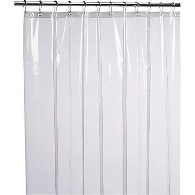 Resistant Anti-Bacterial PEVA 8G Shower Curtain Liner, 72x72