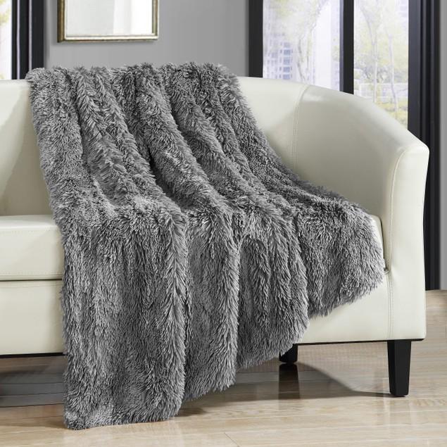Chic Home Ultra Plush Shaggy Faux Fur Throw Blanket
