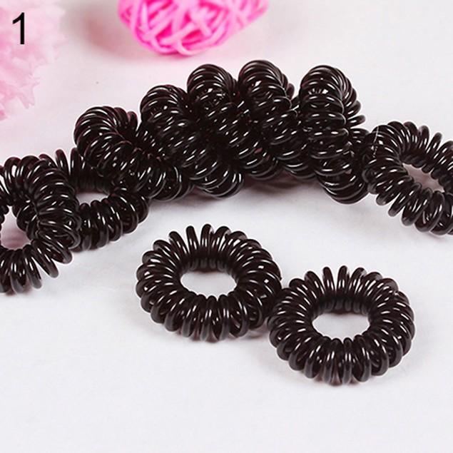 10Pcs Girls Elastic Rubber Hair Ties Band Rope