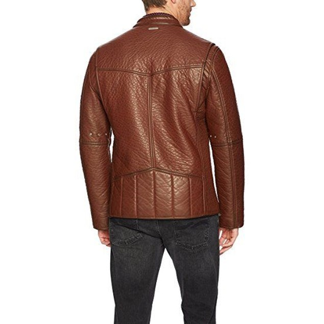 Marc New York by Andrew Marc Men's dinsmore Faux Leather Moto Jacket S