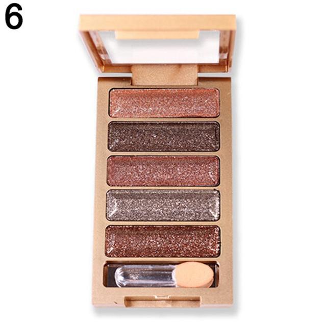5 Colors Nude Makeup Smoky Eye Shadow Palette