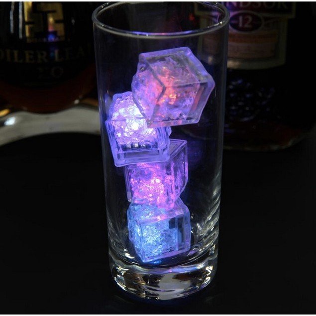 [12pcs/set] LED Ice Cubes Glowing Party Ball Flash Light