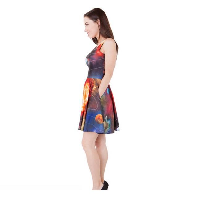 Ms. Frizzle Solar System MINI Dress Women's Costume