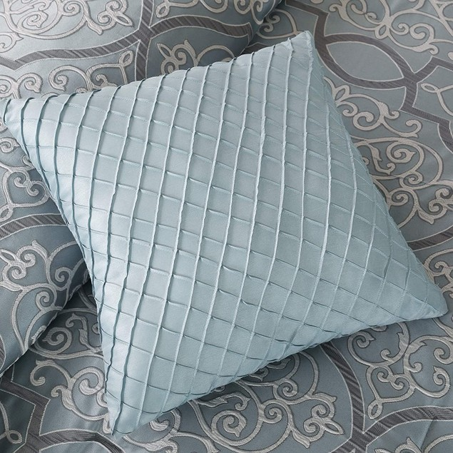 Madison Park Lavine 6 Pc. Duvet Cover Set, Embroidered Deco Pillows, Queen,