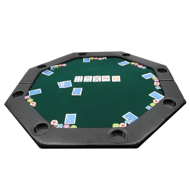"""Tabletop Octagon Padded Poker Table - 51 x 51"""""""
