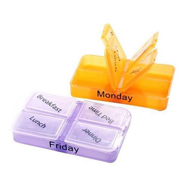 7-Day Medicine Storage Pill Tablet Sorter Box Container Case Organizer