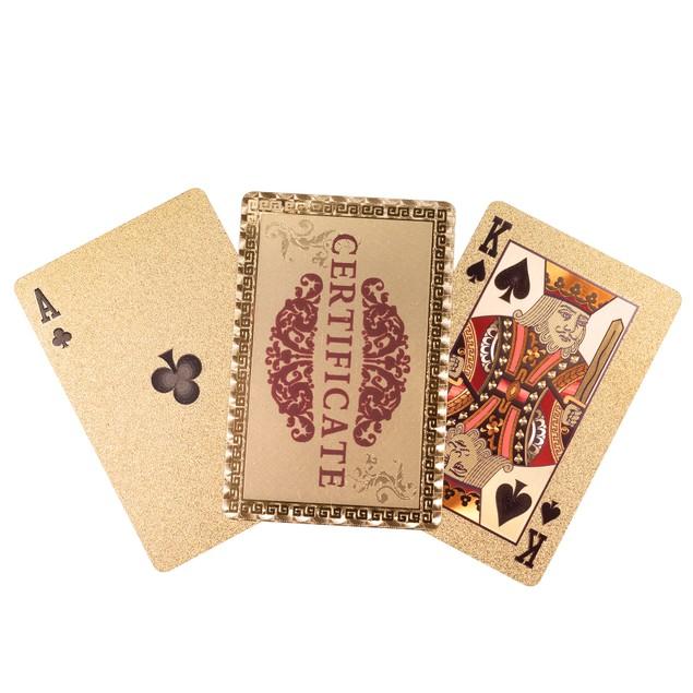 Trademark Poker 24k Gold Playing Cards