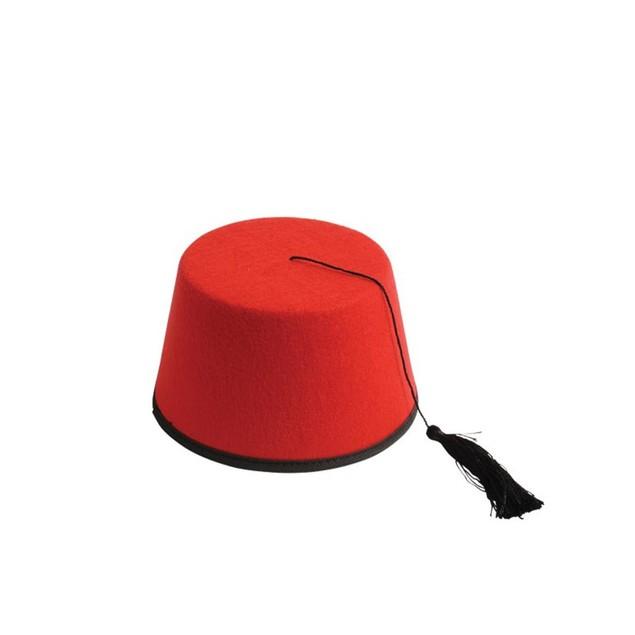 Red Felt Fez