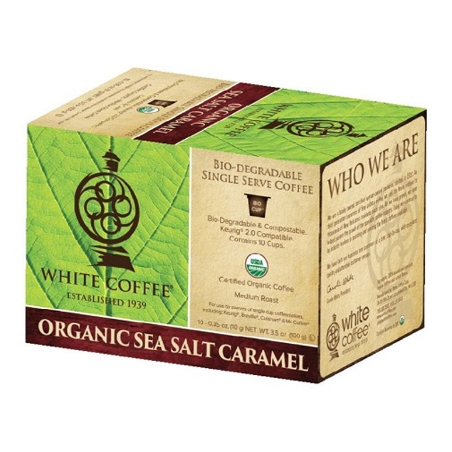 White Coffee Organic Sea Salt Caramel K Cups