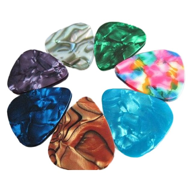 20Pc Thin Acoustic Electric Guitar Pick Plectrum 2 Thickness 0.46mm/0.71mm