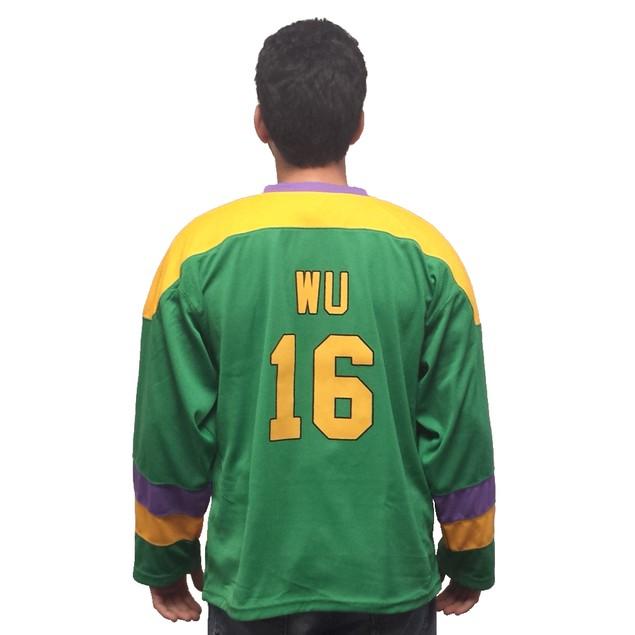 Ken Wu #16 Ducks Hockey Jersey