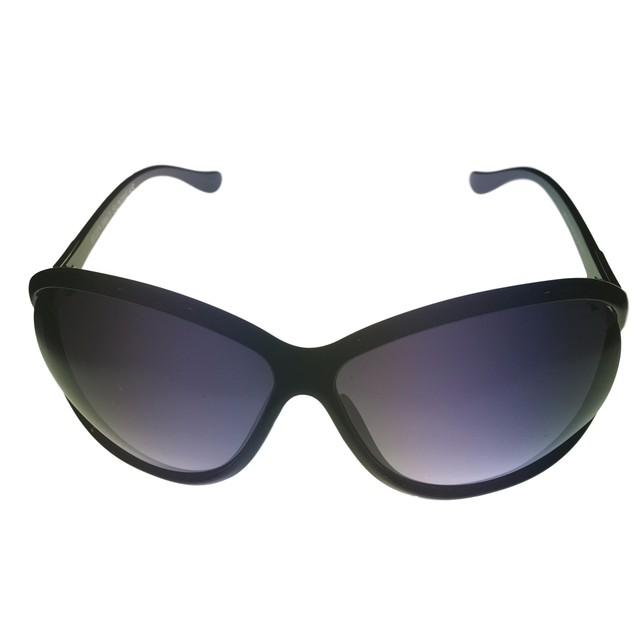 Ellen Tracy Womens Sunglass 522 3 Black Rectangle, Smoke Gradient Lens