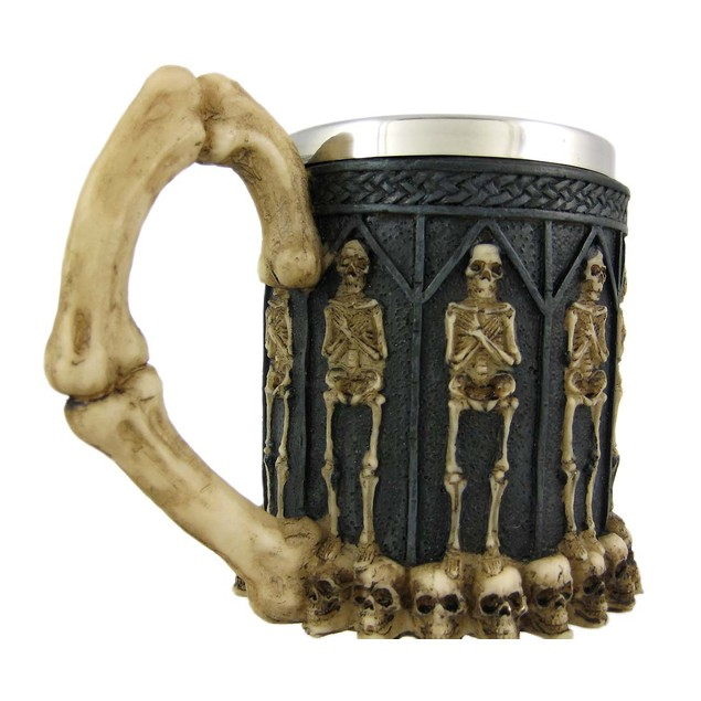 Ossuary Style Skeleton Tankard Coffee Mug Cup Beer Mugs