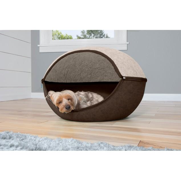 FurHaven TwoColor Round Felt Pet Bed