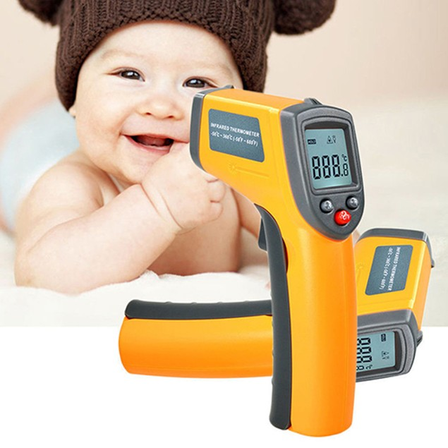 LCD Digital IR Infrared Thermometer Temperature Meter Non Contact Laser