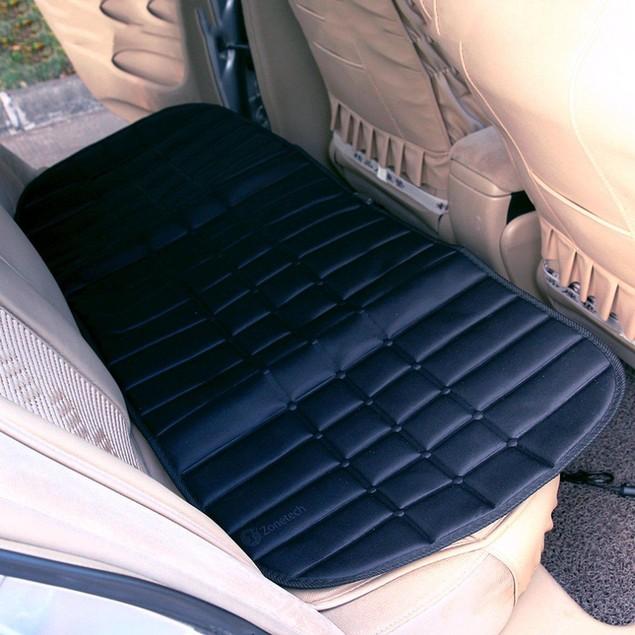 Zone Tech Car Heated Cushion Warmer Cover Hot Winter Heating Pad Rear Seat