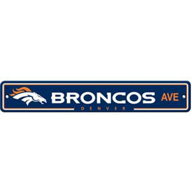 "Denver Broncos Ave Street Sign 4""x24"""