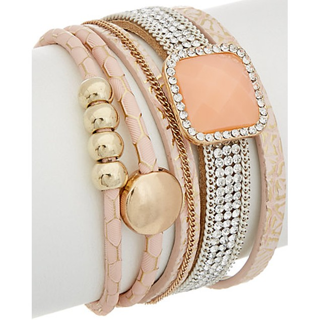 Infinity Wrap Gemstone Bracelets