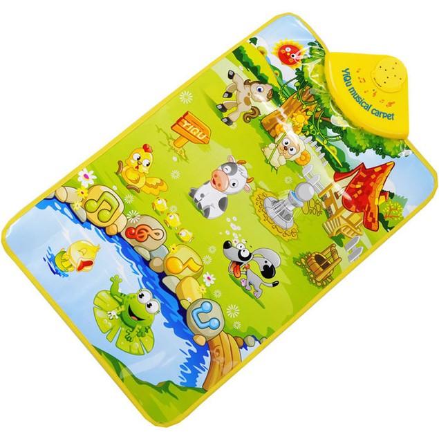 Farm Animal Musical Music Touch Play Singing Gym Carpet Mat Toy