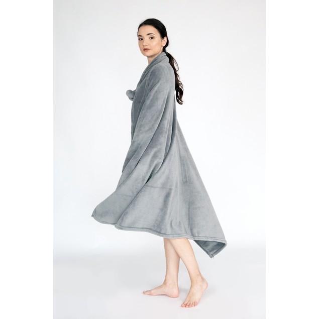 Wrap Snuggle Robe Cozy Ultra Plush Faux Fur Fleece Wearable Blanket