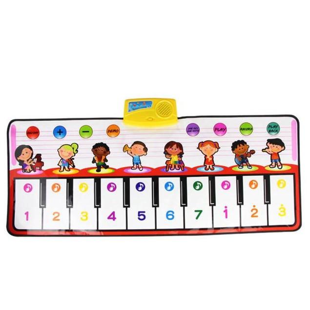 Touch Play Keyboard Musical Music Singing Gym Carpet Mat