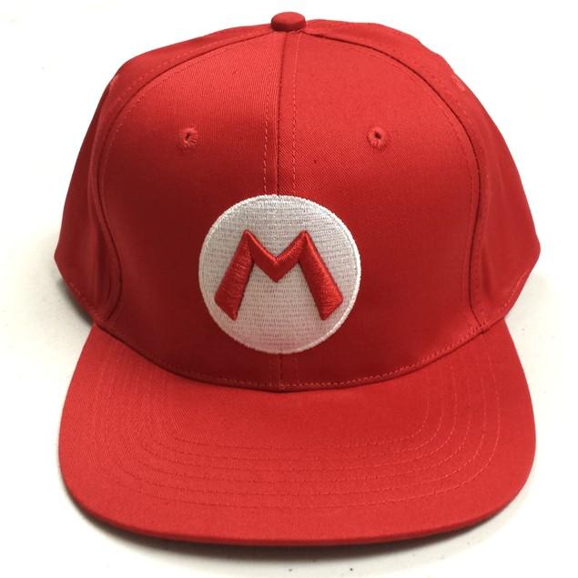Mario M Logo Red Baseball Cap
