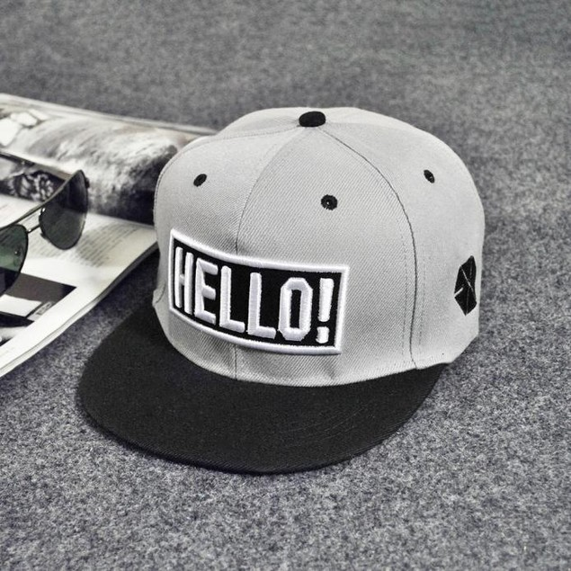 Fashion Embroidery Snapback Boy Hiphop Hat Adjustable Baseball Cap