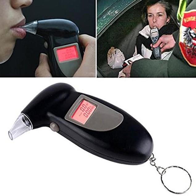Portable Digital LCD Breath Alcohol Breathalyzer Analyser Tester Detector