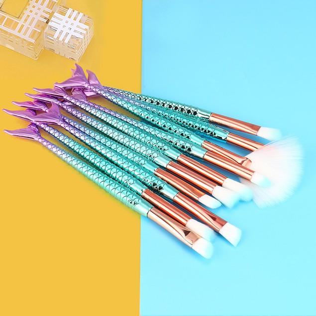 11PC Make Up Foundation Eyebrow Eyeliner Blush Cosmetic Concealer Brushes