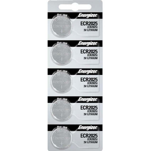 Energizer CR2025 3-Volt Lithium Coin Cell Batteries (5 Batteries)
