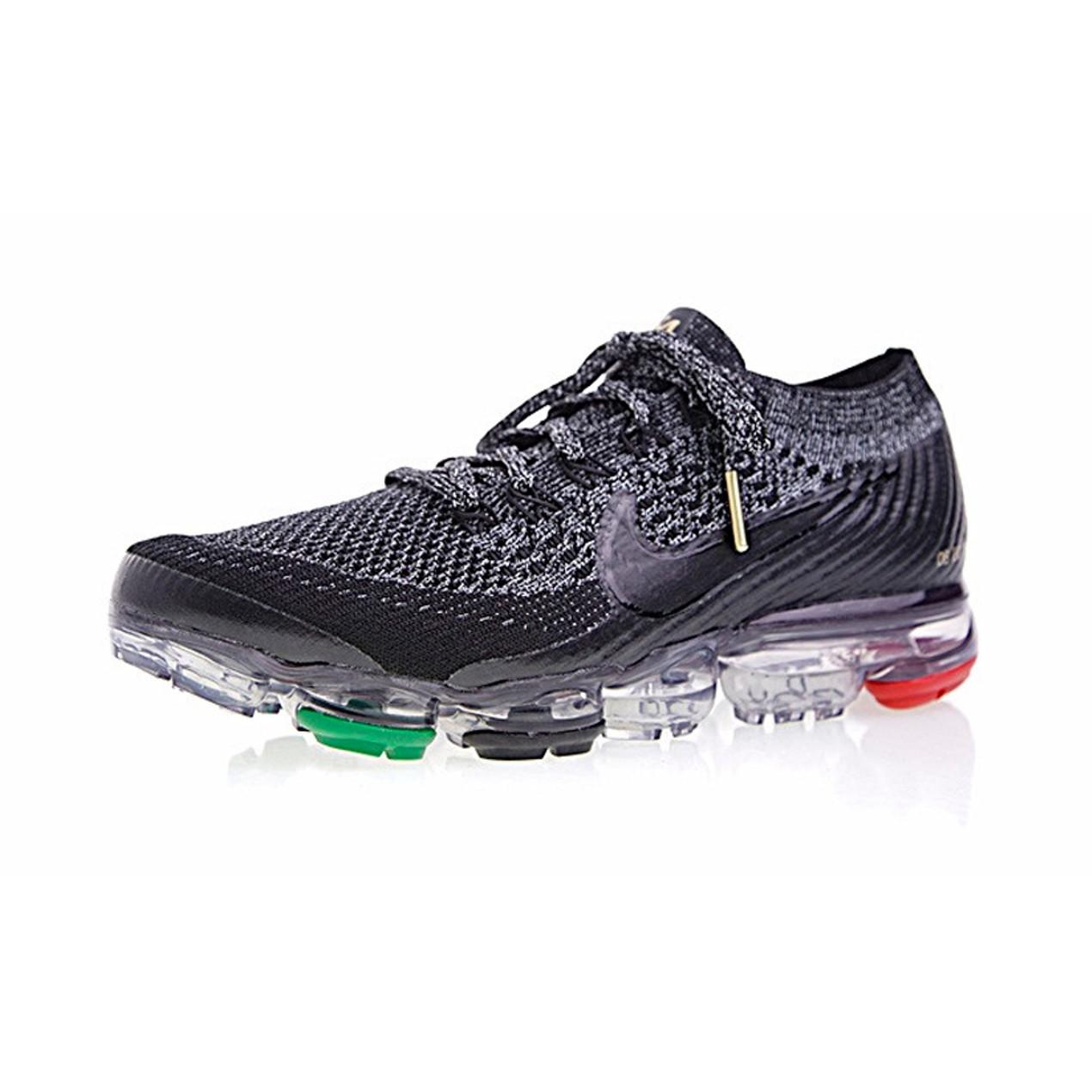 55ae676f0b9 Nike Air Vapormax Flyknit Running Shoes Black Red Green - Tanga