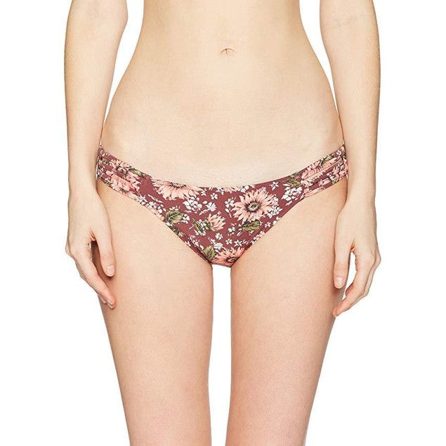 O'Neill Women's Viera Strappy Bikini Bottom, Mocha, S